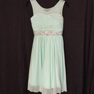 NWT GORGEOUS mint green embellished party dress